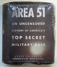 Area 51: An Uncensored History of Americas Top Secret Military Base(CD)51区:美国最高机密军事基地未经审查的历史(15CD)