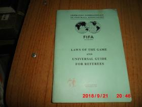 LAMS OF THE GAME AND UNIVERSAL GUIDE FOR REFEREES  (1975年  足球游戏规则及通用的裁判指南)