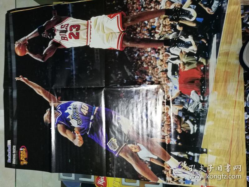 原版乔丹,皮蓬双面超大海报。