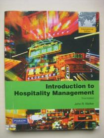 introduction to hospitality management 3E John R.Walker正版