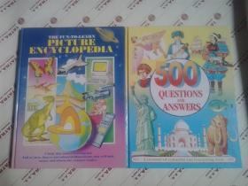 英文原版:童书彩图百科知识(小八开 精装)两册合售