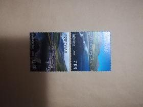 外国邮票 法罗群岛邮票风景2006年  2枚(乙8-1)