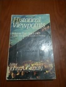 Historical Viewpoints -VOLUME TWO SINCE 1865,NOTABLE ARTICLES FROM AMERICAN HERITAGE