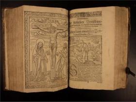 【博物馆级】1597年《Promptuarium morale super Evangelia Dominicalia》一版一印,英国神学家托马斯·斯台普顿著,木刻版画53幅,因戈尔施塔特大师雕刻。