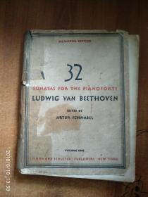 MEMORIAL EDITION 32 SONATAS FOR THE PIANOFORTE LUDWIG VAN BEETHOVEN