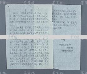 著名美术活动家、中国国家画院美术馆原馆长 沈希诚 《前言》手稿两张(手稿内容为介绍著名画家崔庆国) HXTX104253