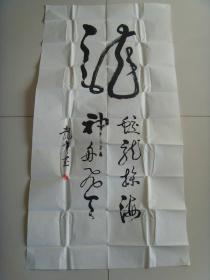 姜振东:书法:龙(带信封)