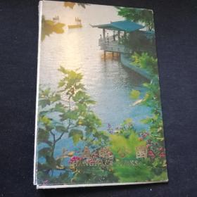 1979年 上海的公园 明信片8张全