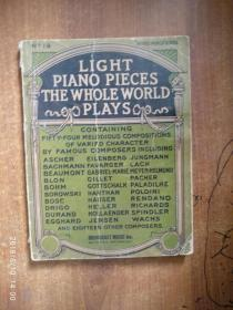 LIGHT PIANO PIECES THE WHOLE WORLD PLAYS