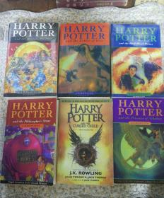HARRY.POTTER英文版:哈利.波特(六册合售)三册全新未拆封,三册拆封。