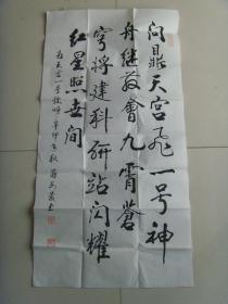 蒋安庆:书法:为天宫一号欢呼(带简介)《蒋安庆书画选》