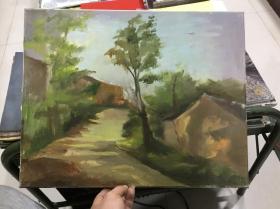 原框原创风景油画