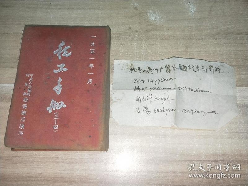 税工手册(三-四)`64开布面精装1951年一月