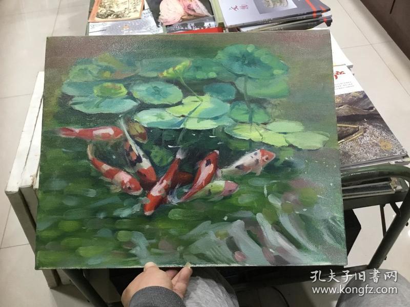 原框 原创油画鱼