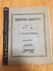 1908年日本学生《地理笔记》一册,日本地理内容,包含台湾