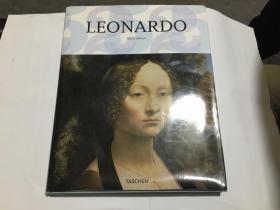 Leonardo da Vinci 1452-1519 达芬奇绘画作品精选【英文原版 精装带书衣】