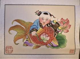 天津杨柳青木板套色年画两张(郑克祥)