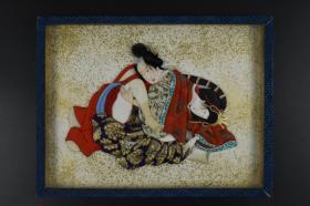 立体《日本风俗浮世绘布贴画》一幅 日本浮世绘 黑白老照片 风俗 春宫浮世绘 浮世绘展示古代日本民间男女欢愉之事 以大胆夸张的手法绘画 它是日本江户时代 兴起的一种独特民族特色的艺术奇葩 是典型的花街柳巷艺术 主要描绘人们日常生活、风景、和演剧 翻拍