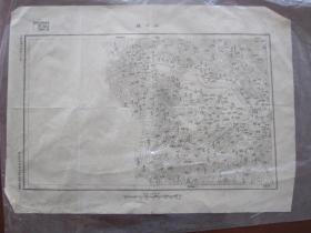 1926年大革命时期国民革命军总司令部参谋处用图:河南淅川县