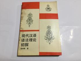 現代漢語語法理論初探