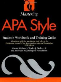 Mastering Apa Style: Students Workbook And Training Guide Fifth Edition