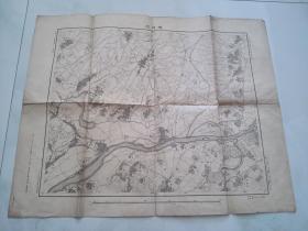 日本 明治二十六年 樱花村地图 货号K2