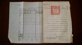 1952解放军农业建设第五师兼参谋长陈德三签署的通知一份,盖关防印