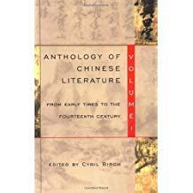 Anthology of Chinese Literature: Volume I: From Early Times to the Fourteenth Century