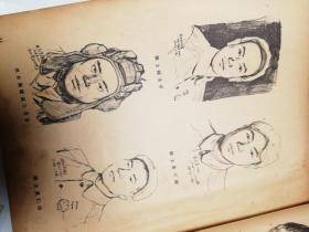 解放初-刘仑,原名刘佩伦,广东惠阳人,中国著名国画家、版画家,. 朝鲜战场速写画稿15幅-铅印