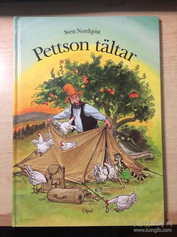 德文原版少儿图画书:Pettson tältar - Sven Nordqvist(16开精装彩色) 派特森和加菲猫