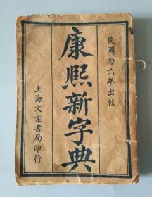 苏宗仁(收藏家、文物鉴赏家)旧藏 《康熙新字典》上海文业书局 1917年