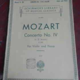 琴谱schirmer,s library of musical classics 莫扎特218