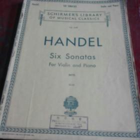 1939年琴谱,Handel six sonatas for violinandpiano