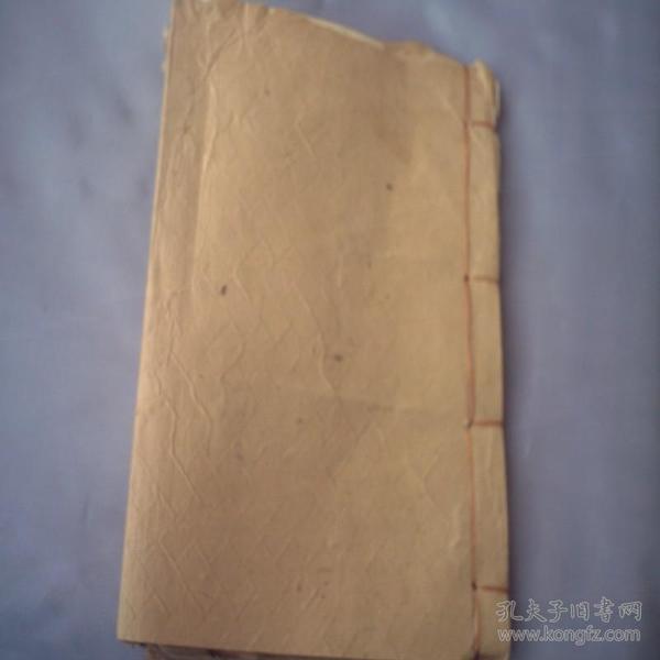 空白纸本(纸张很老,发黄、新装、约40多页)1本
