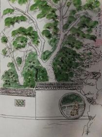 家门口的风景;九华山.
