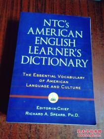 美国进口原装词典 NTC美国英语学习辞典  NTC\\\S AMERICAN ENGLISH LEARNER\\\S DICTIONARY