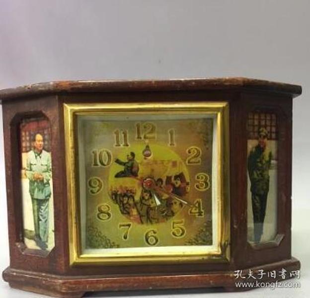早年老钟表摆件 老表 上满发条可正常走动