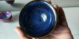 【兔毫盏杯天目釉】窑变杯、陶瓷功夫茶具。高品位的首选。长是底部、宽指的是口径