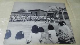 建国初期女子学校篮球比赛32厘米大幅照片