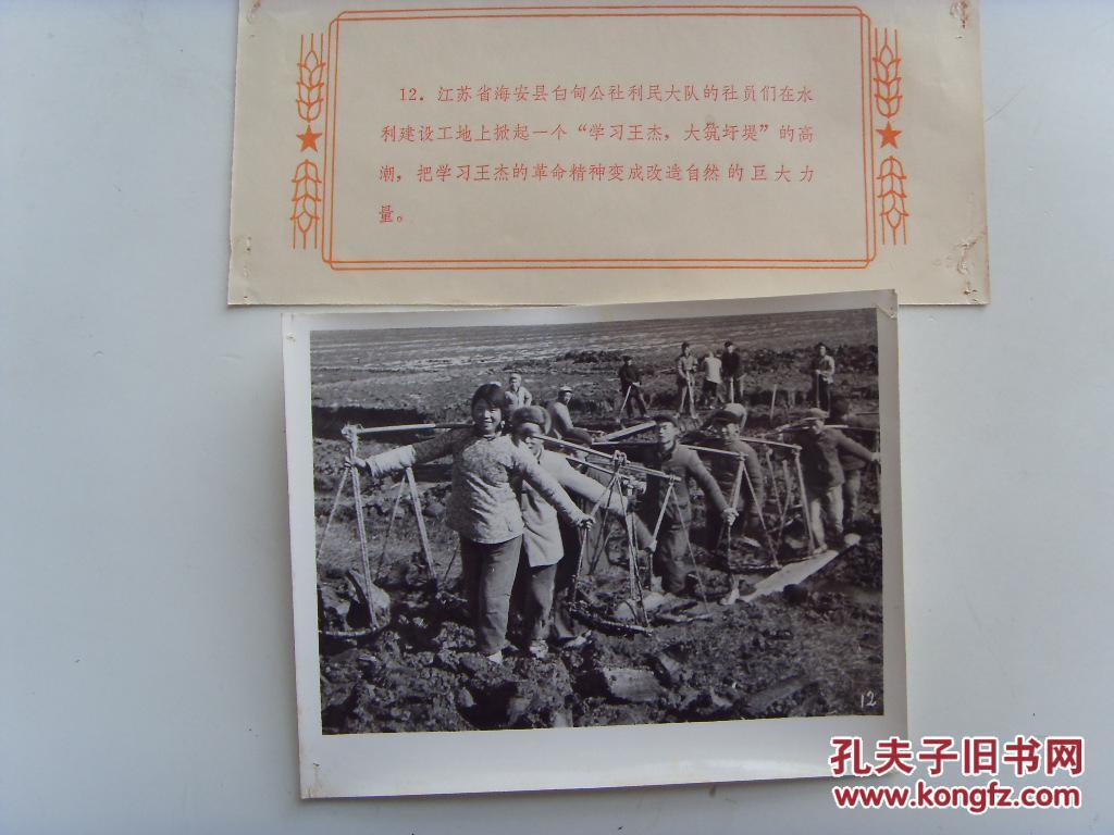 老照片:【※1966年,江苏省南通市海安县白甸公社,社员