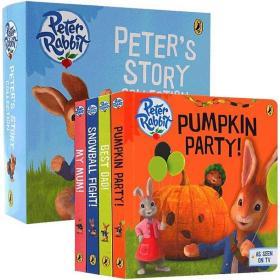 比得兔英文原版绘本 Peter Rabbit Peters Story Collection 彼得兔故事 书 4册盒装 纸板书 复活节主题绘本