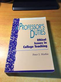 APROFESSORS DUTIES(教授的职责.原版英文)