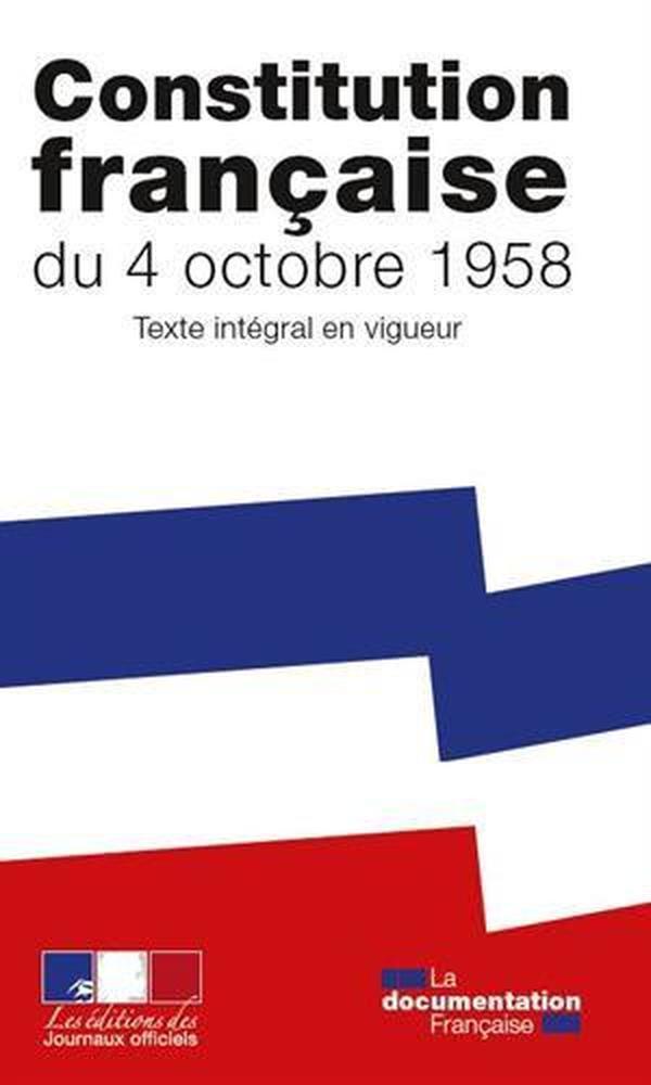 法国原版 法文 法语 法国宪法 La Constitution de la Cinquième République 法国第五共和宪法全文