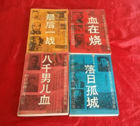 抗日时期国民党正面战场揭秘《落日孤城》《血在烧》《八千男儿血》《最后一战》【全四册】
