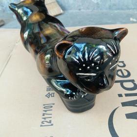 瓷枕  磁州窑猫枕