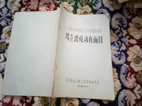 文革资料:周扬反革命修正主义集团的大将——周立波反动真面目