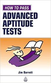 英文原版书 How to Pass Advanced Aptitude Tests Paperback – 28 Jun 2002 by Jim Barrett  (Author)