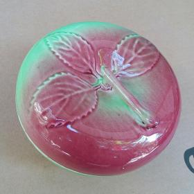 磁州窑 苹果红 瓷灌 糖罐