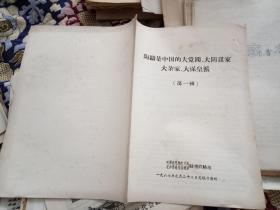 文革资料:陶铸是中国的大党阀、大阴谋家、大杂家、大保皇派(第一辑)