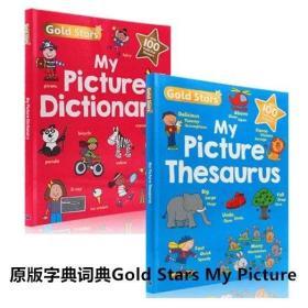 英文原版字典词典 Gold Stars My Picture  2本大开本带奖励贴纸